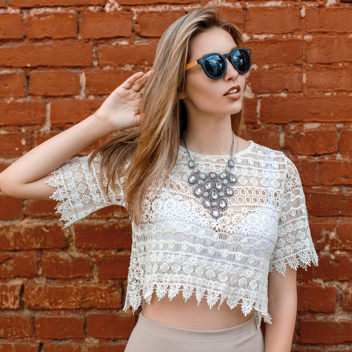 Women's Crochet Knit Crop Top