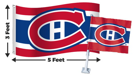 2 for 1 Montreal Canadiens Flag Bundle
