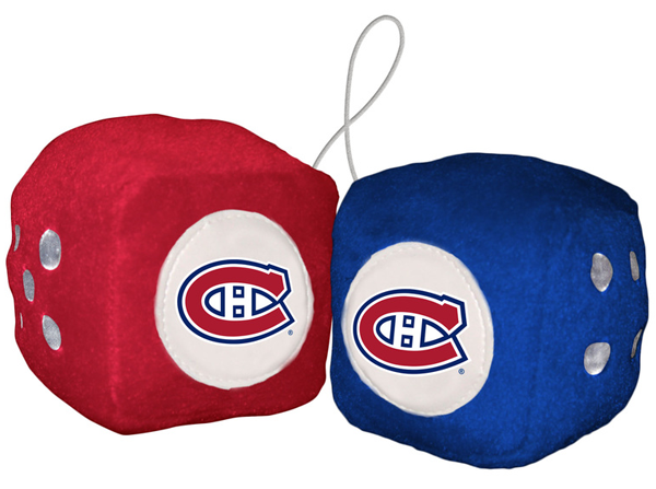 Montreal Canadiens Car Fuzzy Dice