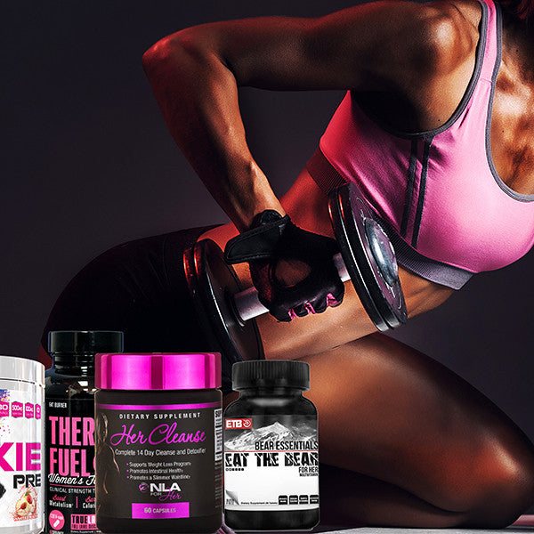 moxie, thermofuel, NLA for her, Eat the bear, Woman doing tricep extension