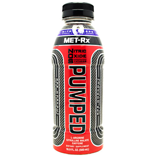 Met-Rx USA NOS PUMPED - Nitro - Grape - 12 Bottles - 10786560579275