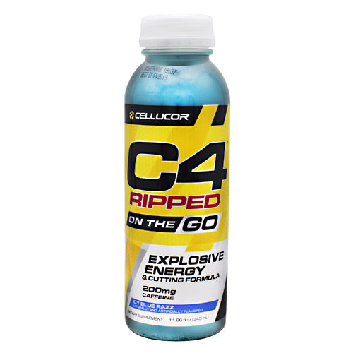 Cellucor Ripped C4 On the Go - Icy Blue Razz - 12 Bottles - 842595102673