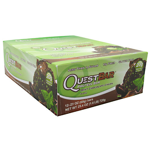 Quest Nutrition Quest Protein Bar - Mint Chocolate Chunk - 12 Bars - 888849001378