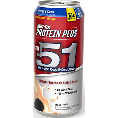 Met-Rx USA Protein Plus RTD 51 - Cookies & Creme - 12 Bottles - 00786560151764