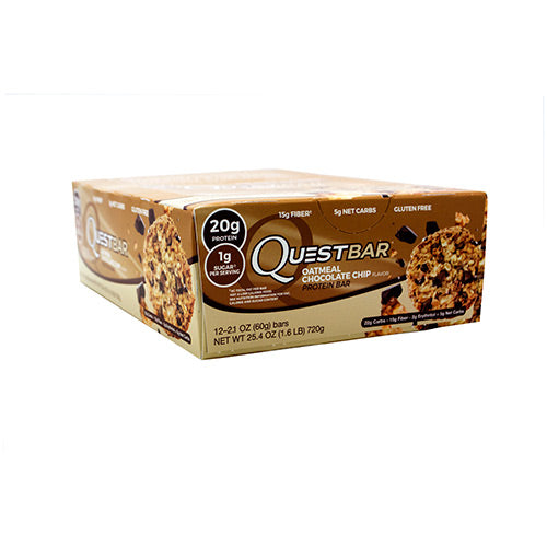 Quest Nutrition Quest Protein Bar - Oatmeal Chocolate Chip - 12 Bars - 888849004645