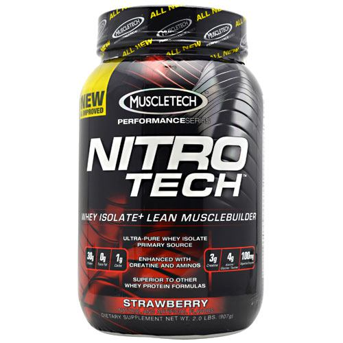 Muscletech Performance Series Nitro-Tech - Strawberry - 2 lb - 631656703269