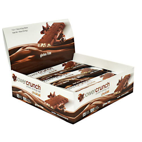 Power Crunch Choklat Crunch Protein Crisps - Milk Chocolate - 12 Bars - 644225222603