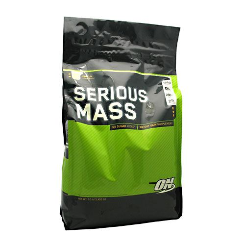 Optimum Nutrition Serious Mass - Vanilla - 12 lb - 748927023824