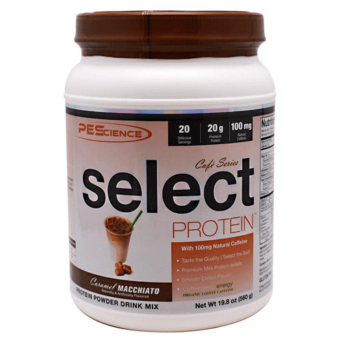 PEScience Cafe Series Select Protein - Caramel Macchiato - 20 Servings - 040232426155