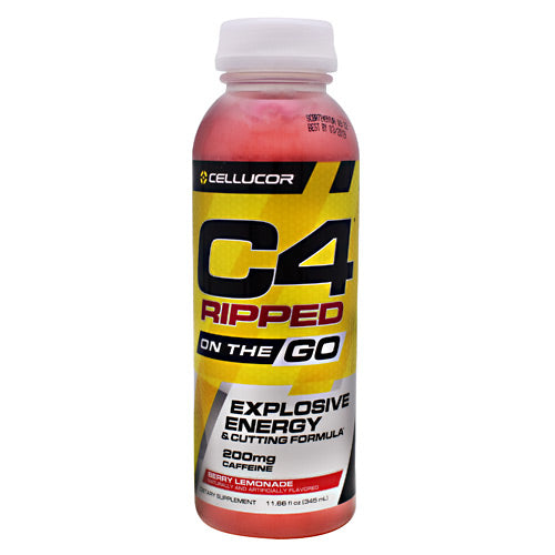 Cellucor Ripped C4 On the Go - Berry Lemonade - 12 Bottles - 842595102666