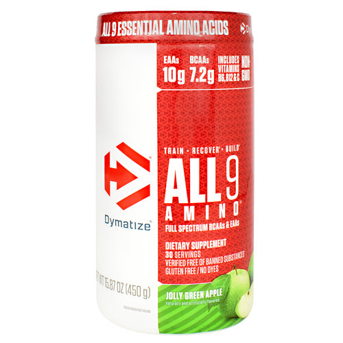 Dymatize All 9 Amino - Jolly Green Apple - 30 Servings - 705016181018