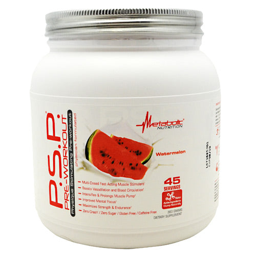 Metabolic Nutrition P.S.P Pre-Workout - Watermelon - 360 g - 764779236045