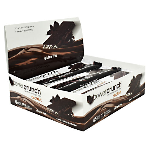 Power Crunch Choklat Crunch Protein Crisps - Dark Chocolate - 12 Bars - 644225222306