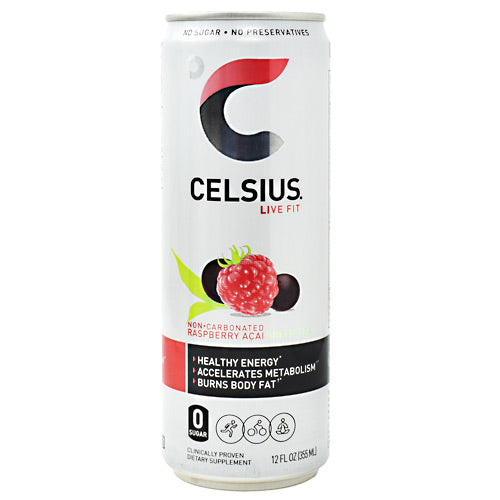 Celsius Non-Carbonated Celsius - Raspberry Acai Green Tea - 12 Cans - 889392010565