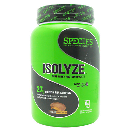 Species Nutrition Isolyze - Chocolate Peanut Butter - 22 Servings - 855438005635