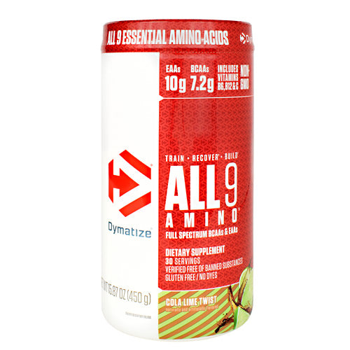 Dymatize All 9 Amino - Cola Lime Twist - 30 Servings - 705016181032