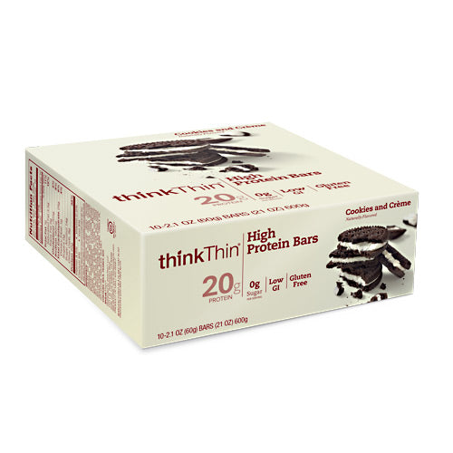 Think Products Think Thin Bar - Cookies & Creme - 10 Bars - 753656709222