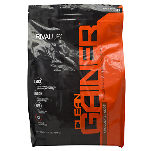 Rivalus Clean Gainer - Chocolate Fudge - 10 lb - 807156002045