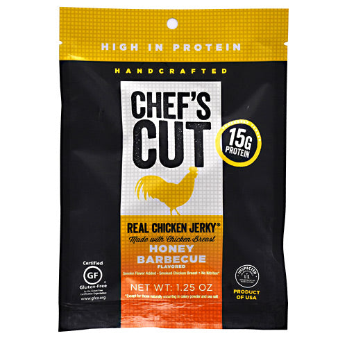Chefs Cut Real Jerky Real Chicken Jerky - Honey Barbecue - 1.25 oz - 858959005177