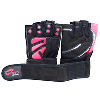 Spinto USA, LLC Mens Workout Glove w/ Wrist Wraps - Red/Gray (LG) -   - 636655965977