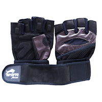 Spinto USA, LLC Mens Workout Glove w/ Wrist Wraps - Brown/Gray (MD) -   - 636655966066