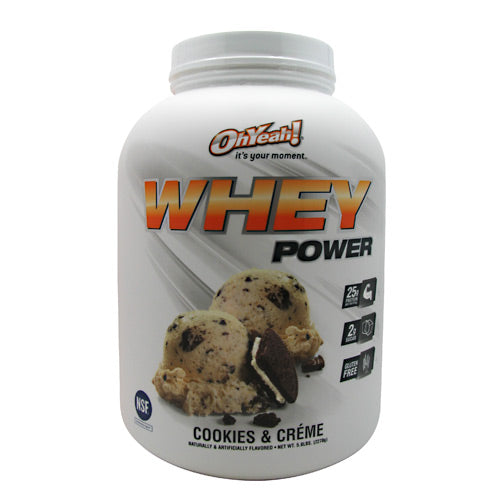 ISS Research Oh Yeah! Whey Power - Cookies & Creme - 5 lb - 788434108416