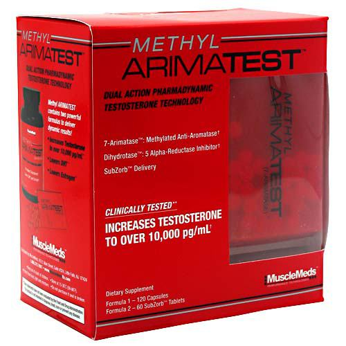 Muscle Meds Methyl Arimatest - 180 Capsules - 891597002306