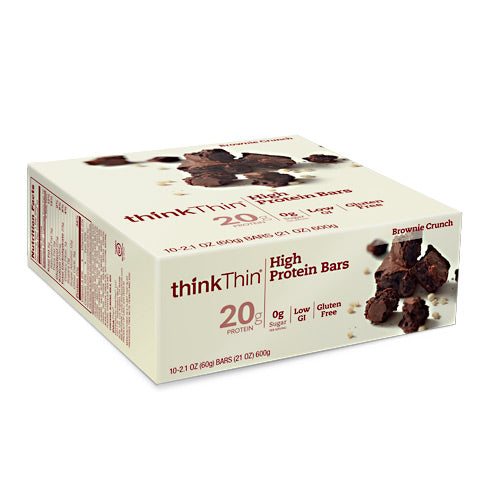 Think Products Think Thin Bar - Brownie Crunch - 10 Bars - 753656701462