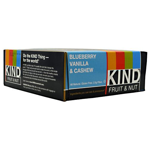 Kind Snacks Kind Fruit & Nut - Blueberry Vanilla & Cashew - 12 Bars - 602652177583