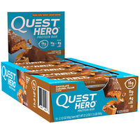 Quest Nutrition Hero Bar - Chocolate Caramel Pecan - 10 Bars - 888849005468