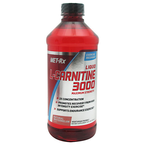 Met-Rx USA L-Carnitine 3000 - Natural Watermelon - 16 fl oz - 786560531221