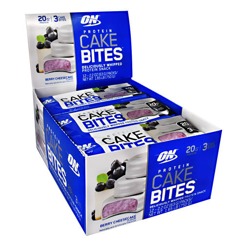 Optimum Nutrition Cake Bites - Blueberry Cheesecake - 12 Bars - 748927955712