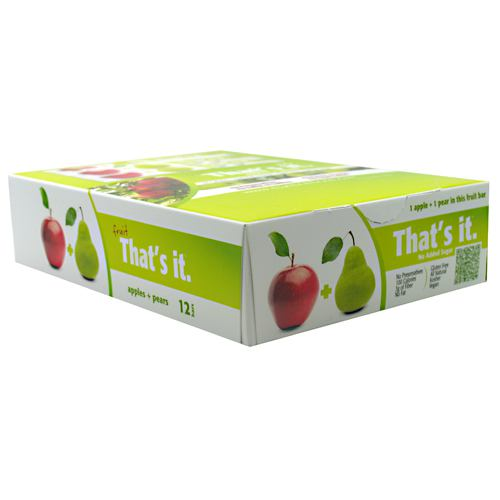 Thats It Nutrition Thats it Bar - Apple + Pear - 12 Bars - 850397004040