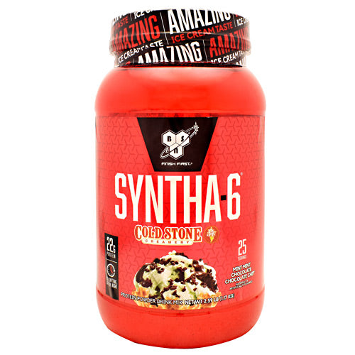 BSN Cold Stone Creamery Syntha-6 - Mint Mint Chocolate Chocolate Chip - 25 Servings - 834266008797