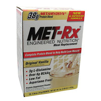 Met-Rx USA Meal Replacement Protein Powder - Original Vanilla - 18 Packets - 786560187015