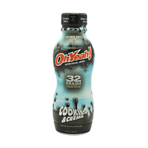 ISS Research OhYeah! Protein Shake RTD - Cookies & Creme - 12 Bottles - 788434114561