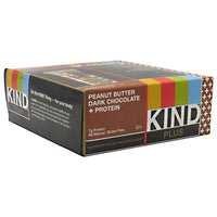 Kind Snacks Kind Plus - Peanut Butter Dark Chocolate + Protein - 12 Bars - 602652171567