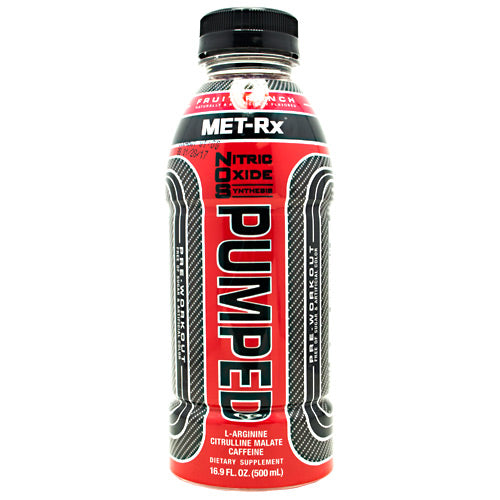 Met-Rx USA NOS PUMPED - Fruit Punch - 12 Bottles - 10786560579282