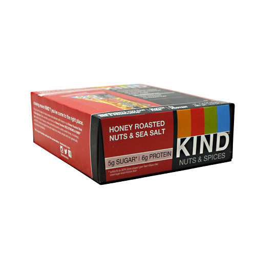 Kind Snacks Kind Fruit & Nut - Honey Roasted Nuts & Sea Salt - 12 Bars - 602652199851