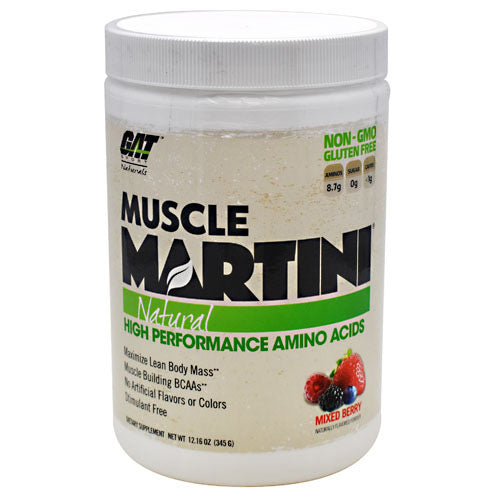 GAT Natural Muscle Martini - Mixed Berry - 30 Servings - 859613000118