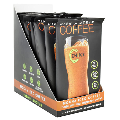 Chike Nutrition High Protein Coffee - Mocha Iced Coffee - 12 Packets - 185689000524