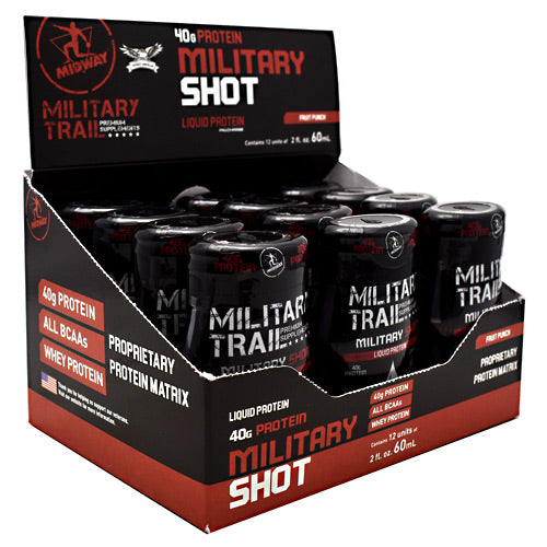 Midway Labs Military Trail Premium Supplements Military Shot - Fruit Punch - 12 ea - 813236023961