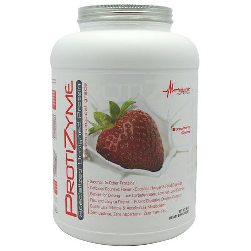 Metabolic Nutrition Protizyme - Strawberry Creme - 5 lb - 764779529185