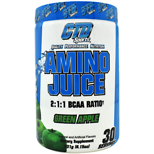 CTD Labs Amino Juice - Green Apple - 30 Servings - 852228007091