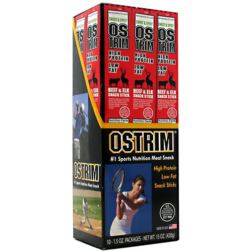 Ostrim Beef/Elk Stick - Sweet & Spicy - 10 Packages - 613911120042