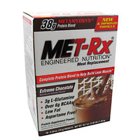 Met-Rx USA Meal Replacement Protein Powder - Extreme Chocolate - 18 Packets - 786560187022