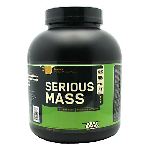 Optimum Nutrition Serious Mass - Banana - 6 lb - 748927028867