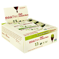 Think Products Plant Based High Protein Bar - Sea Salt Almond Chocolate - 10 Bars - 753656714202