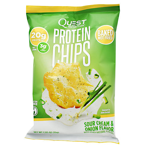 Quest Nutrition Protein Chips - Sour Cream & Onion - 8 ea - 20888849000313