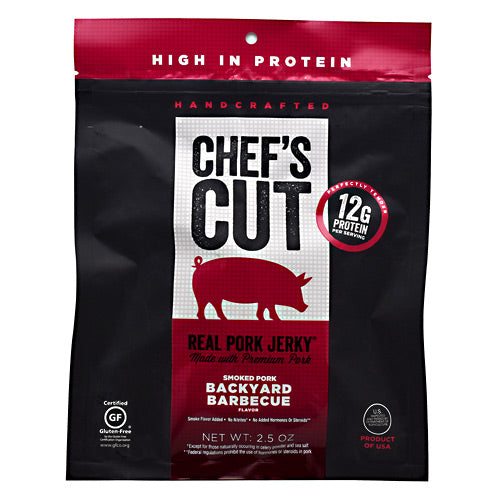 Chefs Cut Real Jerky Real Pork Jerky - Backyard Barbecue - 2.5 oz - 858959005153